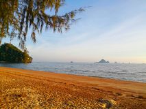 The beach of Southern Thailand. Small wave hit the shore. The se Royalty Free Stock Images