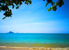 The beach of Southern Thailand. Small wave hit the shore. The se Stock Image