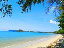 The beach of Southern Thailand. Small wave hit the shore. The se Royalty Free Stock Photos