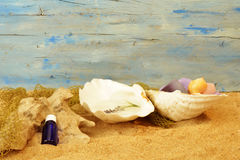 Beach spa background Royalty Free Stock Images