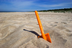 Beach spade or shovel Stock Images