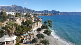 Beach in Spain, nerja Stock Photos