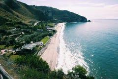 Beach of sperlonga. From above Stock Photography