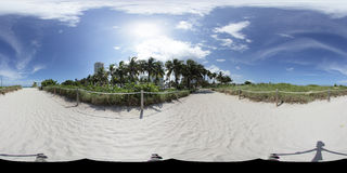 Beach spherical panorama 360x180 Stock Photo