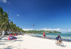 Beach sports in boracay tropical island philippines Royalty Free Stock Photos