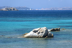 Beach Spreader. View from the beach on the island of La Maddalena Spreader in Sardinia Stock Photos