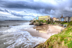 Beach by St Catherines Island Tenby Wales in HDR Stock Photography