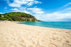 The beach St.Cristina in Lloret de Mar. Spain Stock Images