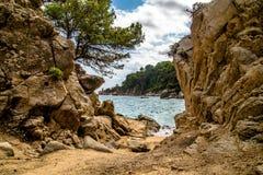 The beach St.Cristina in Lloret de Mar. Spain Royalty Free Stock Photos