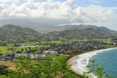 The Island of St. Kitts, The Caribbean stock image