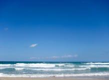 Beach St Maarten tropical island. Wave Beach St Maarten tropical island Stock Photography