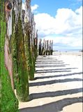 Beach in St Malo  Stock Photo
