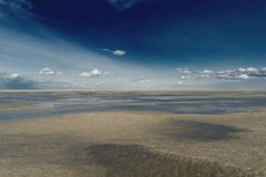 Beach of St. Peter-Ording. In Germany Stock Images