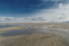 Beach of St. Peter-Ording. In Germany Stock Image