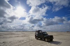 Beach of St. Peter Ording, Germany Royalty Free Stock Photos