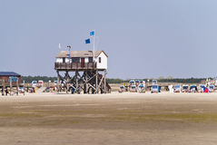 Beach of St. Peter-Ording Royalty Free Stock Images