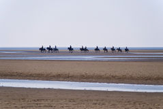Beach of St. Peter-Ording Royalty Free Stock Photos