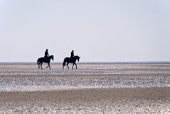 Beach of St. Peter-Ording Royalty Free Stock Photography