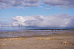 On the Beach of St. Peter-Ording Stock Image