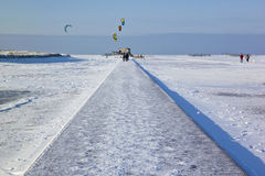 Beach of St. Peter-Ording in winter Royalty Free Stock Image