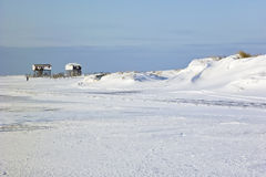 Beach of St. Peter-Ording in winter Royalty Free Stock Photos