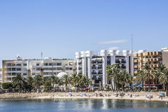 Beach of Sta Eularia Stock Image