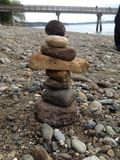 Stacked beach rocks Royalty Free Stock Photos