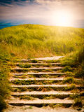 Beach Stairs Royalty Free Stock Images