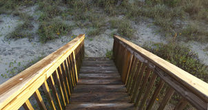 Beach Stairs Downwards. To the Beach Royalty Free Stock Photos