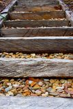 Beach Stairs with pebbles. A set of pebbly stairs at the beach Stock Photos