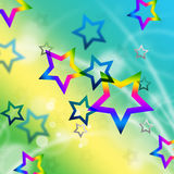 Beach Stars Background Means Shining In Sky Stock Photos