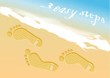 Beach steps infographic Royalty Free Stock Photos