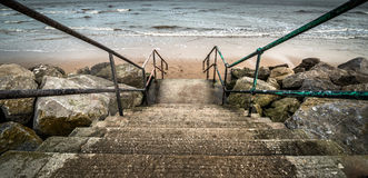 Beach Steps Royalty Free Stock Photo