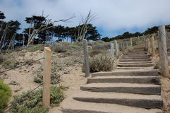 Beach steps Sutro Stock Photography
