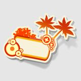 Beach sticker Stock Photography