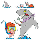 Beach stickers. Vector clip-arts / illustrations for your photo and design Stock Photography