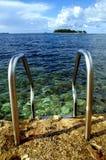 Beach still-life. On the beach of the Adriatic sea, in Croatia stock photos