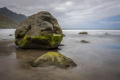 Beach and stone. A great stone near the sea Stock Images