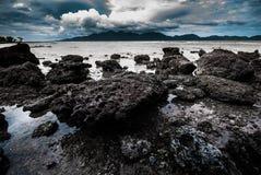 Beach Stone across the island Stock Image