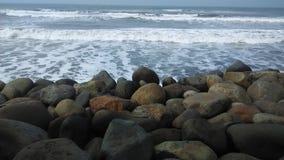 Beach and Stone Stock Photo