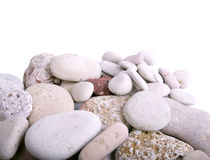 Beach stones. The present stones from a beach stock image