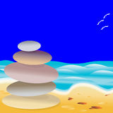 Beach Stones Royalty Free Stock Images