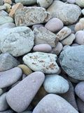 A BEACH OF STONES royalty free stock photo