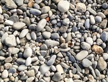 Beach stones for the background Stock Photography