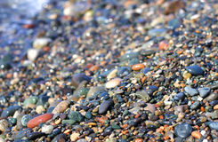 Beach stones colored Royalty Free Stock Photos
