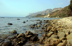 Beach with stones, Zakynthos island Royalty Free Stock Image