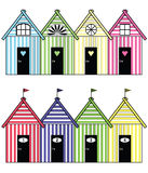 Beach storage houses stock illustration