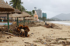 Beach after storm Stock Image