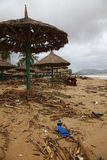 Beach after storm. Beach in Nha Trang after Mirinae storm (Vietnam Stock Photography