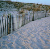 Beach Storm fence Royalty Free Stock Images